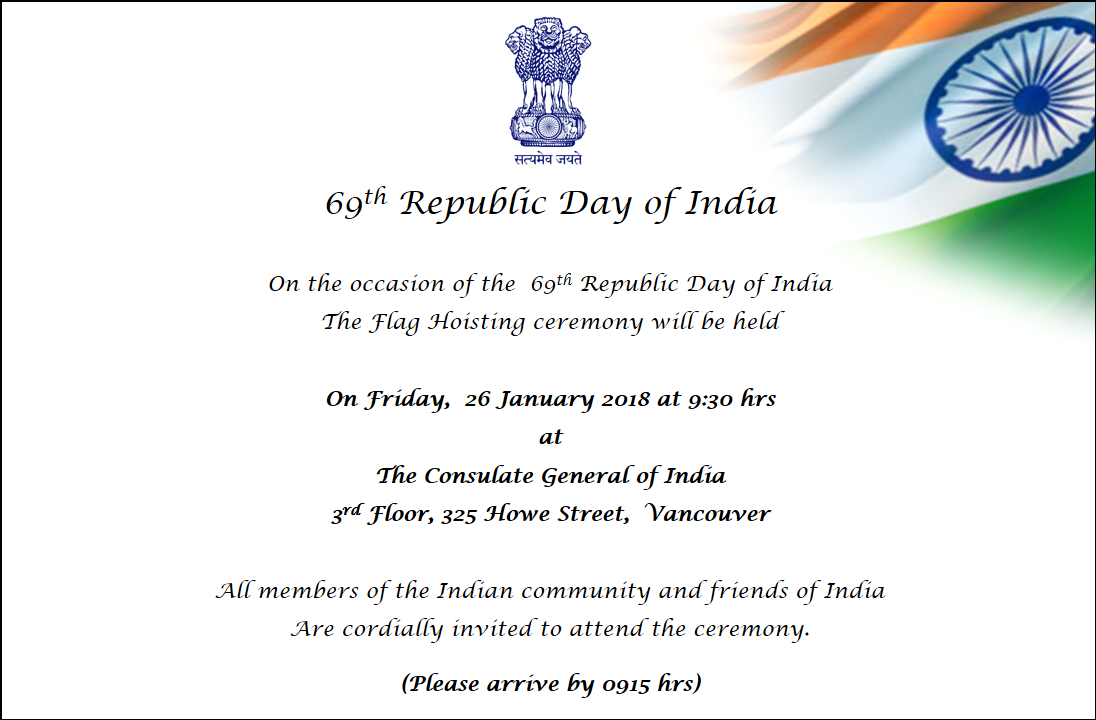 Welcome To Consulate General Of India Vancouver Bc Canada